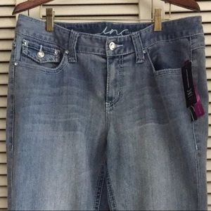 NWT Jeans INC Bootcut Denim Bling Rhinestones
